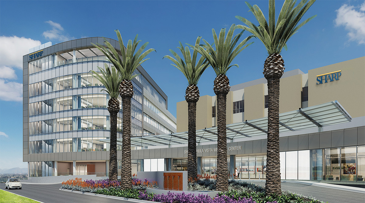 Sharp Chula Vista Medical Center new hospital tower rendering