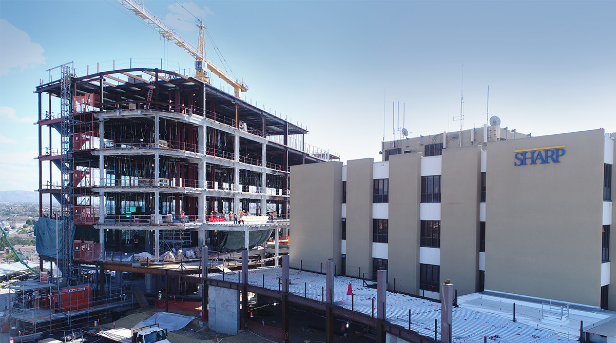 Sharp Chula Vista Medical Center new hospital tower construction site